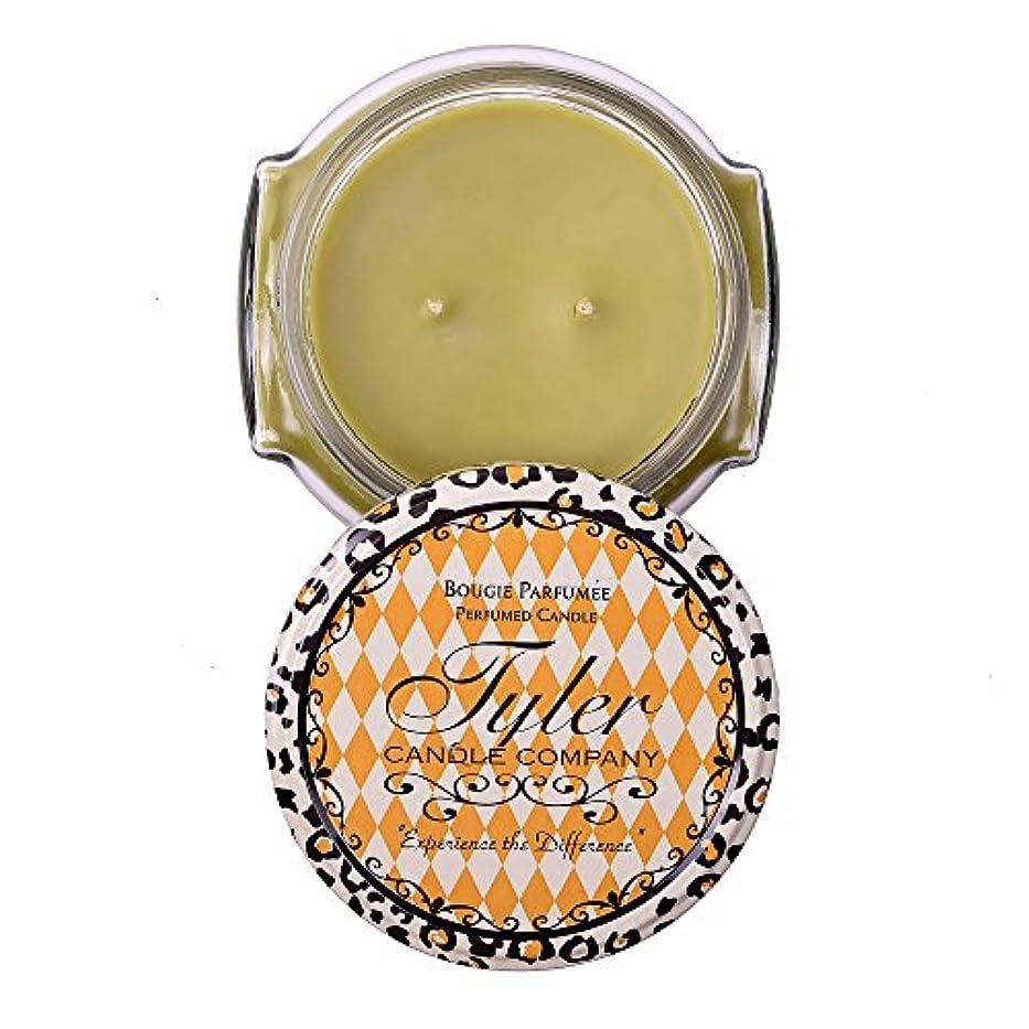 革命ひばりピンクWhat a Pear Tyler 11 oz Medium香りつき2-wick Jar Candle