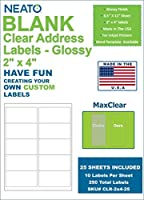 Neato Clear Address Labels ? 10 Labels per Sheet 25 Sheets ? 250 Labels Total [並行輸入品]