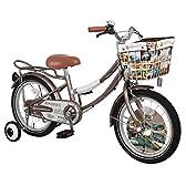 ジェフリーズ 子供自転車 Morris 16インチ 補助輪/リアキャリア付 Rose Taupe(ローズトープ)