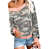 N NORA TWIPS Womens Casual Off The Shoulder Tops V Neck Long Sleeve Waffle Pullover Blouse Tops