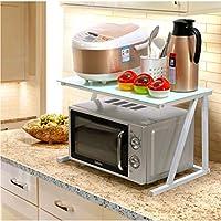 キッチン電子レンジオーブンラックオーブンラック炊飯器ラックスパイスラック調味料収納収納多機能ラック (Edition : B)