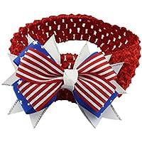 カチューシャAnkolaアメリカ国旗印刷赤ちゃん7月4日子供リボン付きカチューシャヘアバンドヘアアクセサリー