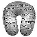 SkyDoor J 数学 式 教育 首枕 ネックピロー U型枕 ポリエステル 持ち運び枕 旅行枕 ネッククッション 旅行用品 飛行機