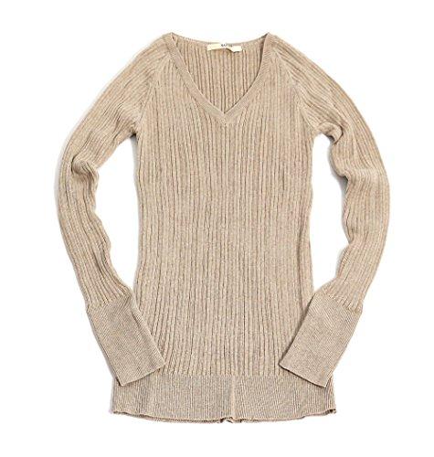 (ナル) NARU 無地 Vネック セーター 1(F) 32.カシミヤ杢 623600