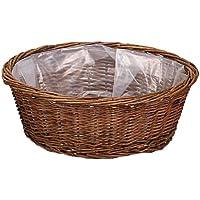 大橋新治商店 ハンドメイド バスケット Willow Basket ブラックウイローラウンドバスケット LL 11-745