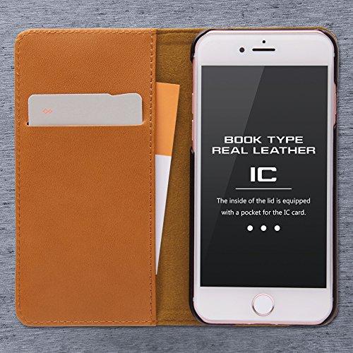 レイ・アウト iPhone7ケース 手帳型 ケース 本革(カード収納×3) キャメル RT-P12RLC1/K