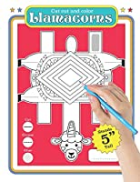 Llamacorn: Cut out coloring book for creative boys and girls