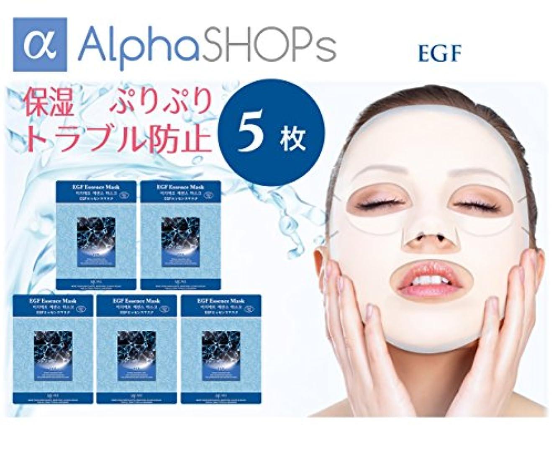 追加する無知プリーツ5枚セット EGF エッセンスマスク 韓国コスメ MIJIN(ミジン)