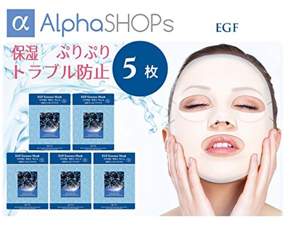 切手貸し手穿孔する5枚セット EGF エッセンスマスク 韓国コスメ MIJIN(ミジン)