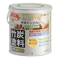アトムハウスペイント 水性竹炭塗料 0.7L 炭調銀杏色