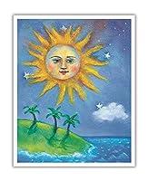 ハワイの日(ラ) - ペイントされた元の色からのものです によって作成された ニコラ・モス - アートポスター - 41cm x 51cm