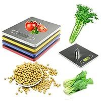 実用的なキッチンスケール5キログラム/1グラムlcdディスプレイデジタルelectronicキッチン食品スケールバランス重量ツールでトレイ-blue