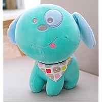HuaQingPiJu-JP クリエイティブな柔らかい愛の犬の布のぬいぐるみの人形ピローおもちゃの子供のおもちゃ(青)
