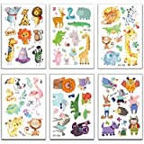 Toyvian 20 Sheets Animal Temporary Tattoos Waterproof Animal Tattoo Stickers for Kids Adults (Mixed Pattern)