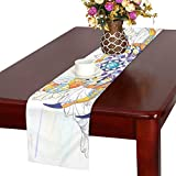 LKCDNG テーブルランナー かに クロス 食卓カバー 麻綿製 欧米 おしゃれ 16 Inch X 72 Inch (40cm X 182cm) キッチン ダイニング ホーム デコレーション モダン リビング 洗える