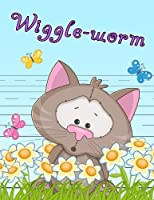 """Wiggle-worm: Primary Writing Tablet for Kids Learning to Write, Personalized Book with Child's Name for Girls and Boys, 65 Sheets of Practice Paper, 1"""" Ruling, Preschool, Kindergarten, 1st Grade, 8 1/2"""" x 11"""""""
