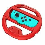 OBEST Nintendo Switch専用ハンドル ニンテンドースイッチ Joy-Conハンドル  マリオカート 8専用ハンドル レースゲーム専用ハンドル(レッド)