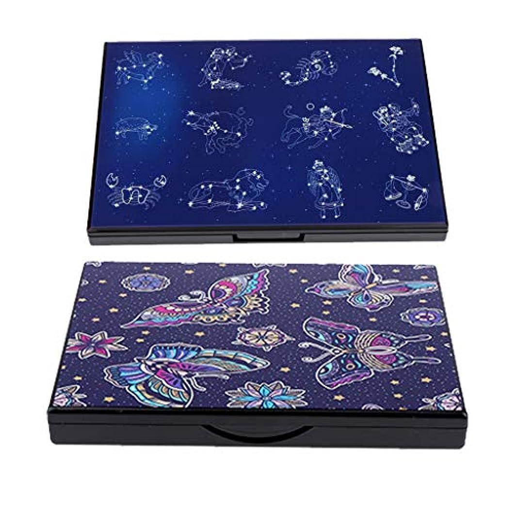 取り組む浴話をするSM SunniMix 2個 空の磁気パレット アイシャドウパレット コンシーラー ミラー 収納ボックス