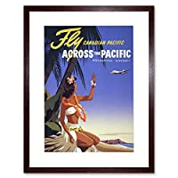 Travel Tourism Tropical Pacific Air Plane Canada Framed Wall Art Print
