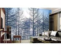 Weaeo 壁の壁紙3 Dの写真壁紙をカスタマイズします。3D松林3Dの風景の背景居間の3D壁紙の壁紙-350X250Cm