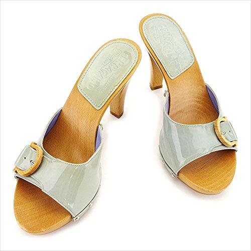 (サルヴァトーレフェラガモ)Salvatore Ferragamo サンダル シューズ 靴 レディース ♯4C ウッドガンチーニ 中古 T2985