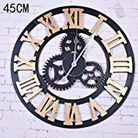 Chuangshengnet 壁掛け時計サイレントムーブメント壁掛け時計ホームオフィス用インテリアリビングルームベッドルームとキッチン時計壁アンティークニッシンセン