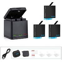 TELESIN GoPro バッテリー 3個 USB充電器 ゴープロ 用互換バッテリー Hero8 black Hero…