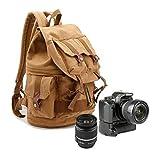 Yimidear カメラリュック カメラバッグ リュック カメラ女子 一眼レフ ミラーレス一眼 デジカメケース バックパック デジタル一眼レフバッグ プレゼント 父の日 おしゃれ ビデオカメラケース 男女兼用 (イエロー)