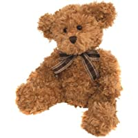 Suki Gifts Bear from the Past Lucas Soft Plush Traditional Bear (Medium, Caramel with Plaid Ribbon) by Suki Gifts
