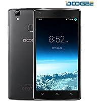 SIMフリースマートフォン, DOOGEE X5 MAX PRO(5.0インチHD IPS スクリーン 4G Android 6.0 MTK6737 クアッドコア 16GB ROM 5MP+5MP カメラ 4000mAhバッテリー) スマートフォン本体 黒