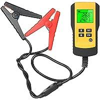 KKmoon デジタル バッテリー テスター 12V蓄電池用 LCD バッテリーアナライザ 自動車バッテリー診断 電圧 抵抗 CCA値測定