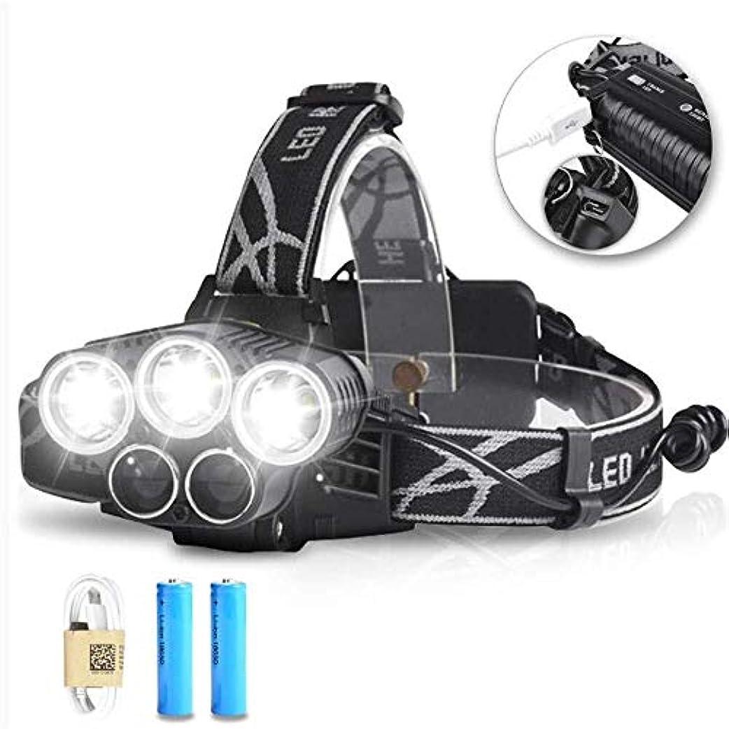 光の一般化するパケットヘッドランプ、ヘッドライト15000Lumens 3T6 + 2R5主導ヘッドライトヘッドランプライト屋外照明+ 2 * 18650バッテリー+ USB充電器
