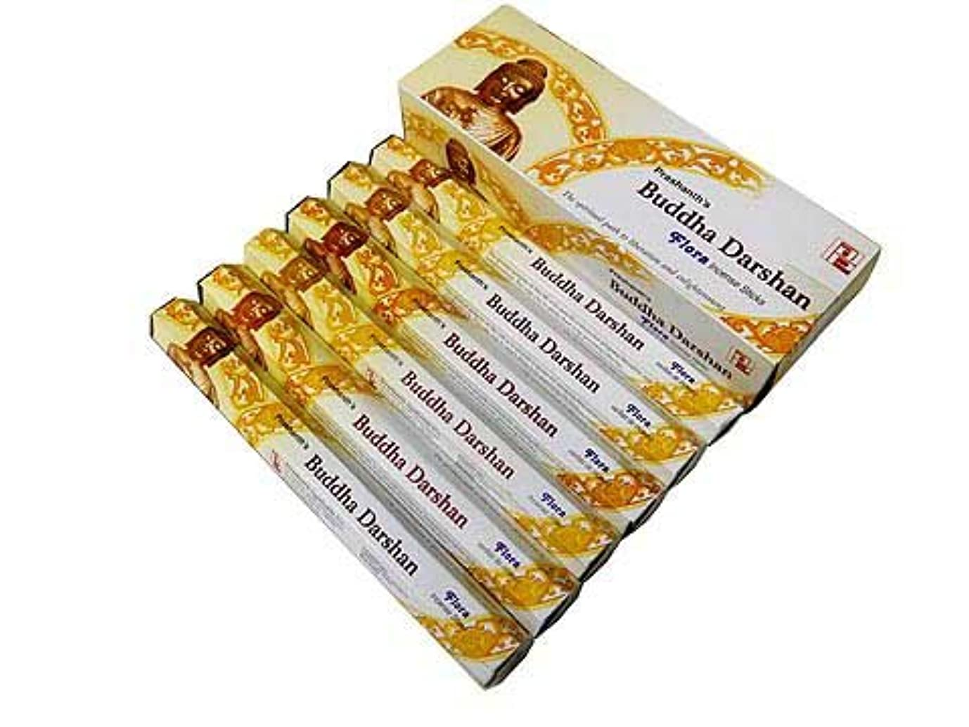 フィットネスケーブルカー元気なDARSHAN(ダルシャン) ブッダダルシャン香 マサラスティック PRASHANTH'S BUDDHA 6箱セット