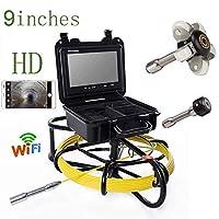 9インチの WIFI 23mm 鉄フレーム工業用パイプ下水道検出カメラ IP68 防水排水検出 1000 TVL カメラ (30M)