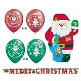 【クリスマス小物】バルーン&デコレーションセット クリスマス(1パック)  / お楽しみグッズ(紙風船)付きセット