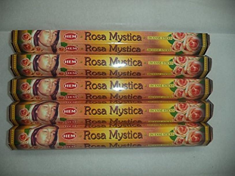 ディスク聖人真っ逆さま裾Rosa Mystica 100 Incense Sticks (5 x 20スティックパック)