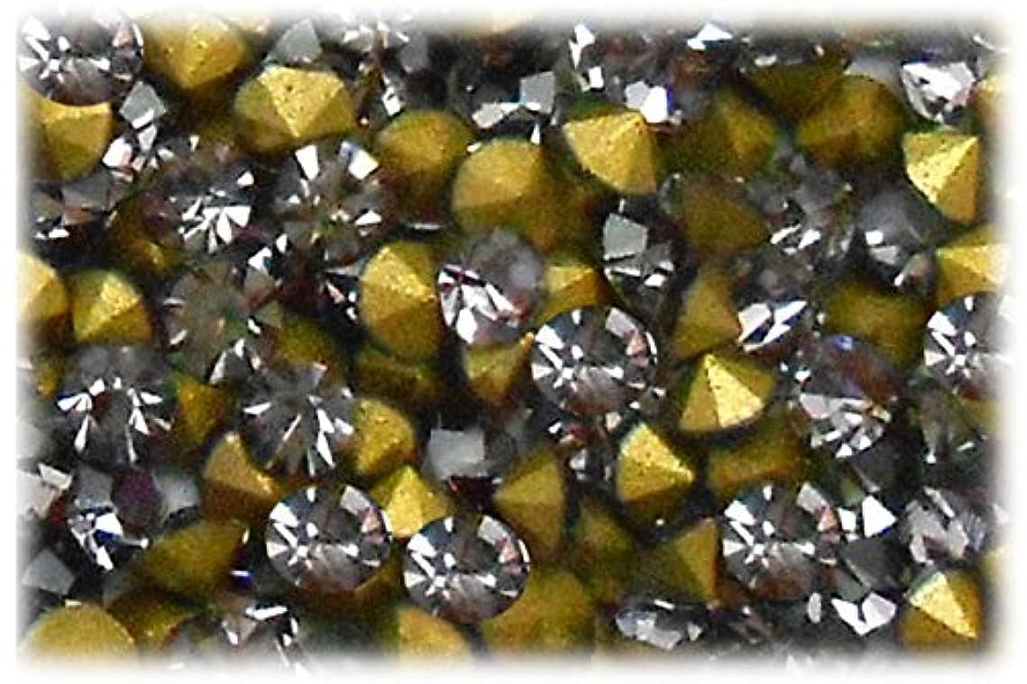 ブラスト貴重なハシーSHAREKI CRYSTAL Vカット (チャトン) ラインストーン グレー (ブラック ダイヤモンド ) SS3(144個入り)~SS36(17個入り) (SS3)