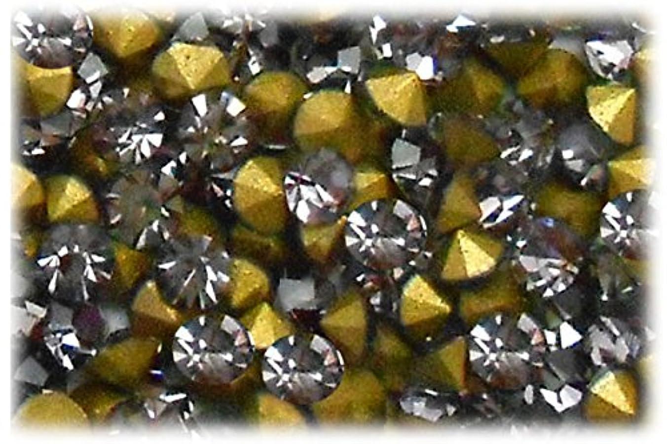 提供されたフラグラント全滅させるSHAREKI CRYSTAL Vカット (チャトン) ラインストーン グレー (ブラック ダイヤモンド ) SS3(144個入り)~SS36(17個入り) (SS8)