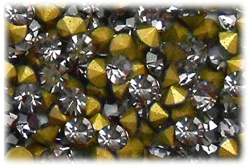 残酷な慢性的コピーSHAREKI CRYSTAL Vカット (チャトン) ラインストーン グレー (ブラック ダイヤモンド ) SS3(144個入り)~SS36(17個入り) (SS6)