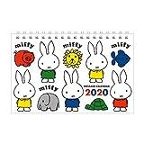 スクエア ミッフィー 2020年 カレンダー 卓上 白 BCA-3