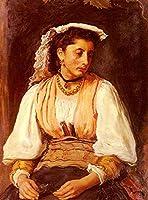 手書き-キャンバスの油絵 - 美術大学の先生直筆 - Pippa Pre ラファエルite John Everett Millais 絵画 洋画 複製画 ウォールアートデコレーション -サイズ14