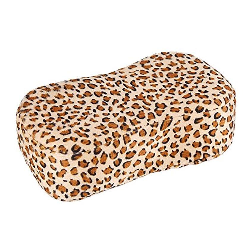ハンド枕、ヒョウ柄ネイルアート枕マニキュアソフトスポンジハンドレストクッションホルダーサロンネイルツール、マニキュア枕