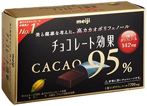 濃厚なカカオが美味しい 明治 チョコレート効果カカオ95%BOX 60g×5箱