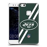 オフィシャル NFL ストライプ ニューヨーク・ジェッツ ロゴ ハードバックケース Huawei P10 Lite