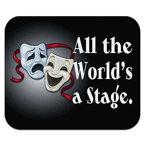 すべての世界の舞台コメディー Tragedy ドラママスク - 演技劇場シアターマウスパッド