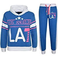 Kids Girls Tracksuit Los Angeles LA7 Print Hoodie & Bottom Jog Suit 7-13 Years