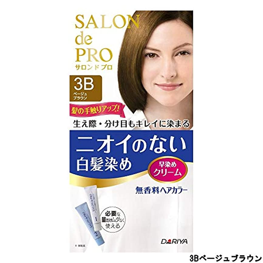 湿った商業の溶融サロンドプロ 無香料ヘアカラー 早染めクリーム3B (ベージュブラウン)
