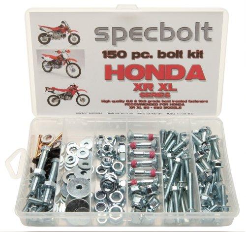 150pc Specbolt Honda XR XL 4ストロークボルトキットメンテナンス& RestorationのDirtbike OEM Fasteners xr50xr80xr100xr185xr200xr250xr400xr500xr600xr650and XR XLモデル5080100185200250400500600650