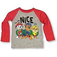 Paw Patrol Christmas Long Sleeve Shirt Pups on The Nice List Sweatshirt for Toddlers