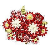 髪飾り 花かんざし つまみ細工 花 和柄(成人式 卒業式 結婚式 和装) wk-077-1 (赤)
